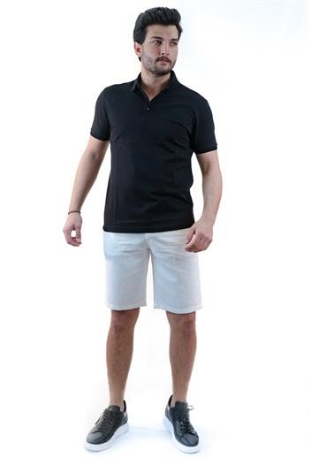 Boris Becker Polo Yaka Slim Fit  T-shirt Siyah